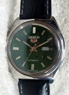 Vintage Seiko 5 Automatic Day-Date 21-Jewels Men's Wrist Watch AS-26