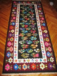 Vintage Romanian hand woven wool kilim , gorgeous kilim ! Available at www.greatblouses.com