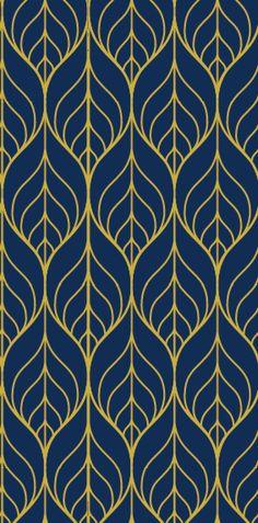 Removable Wallpaper, Leaf wallpaper, wallpaper, Peel and stick wallpaper, Self adhesive wallpaper, Repositionable wallpaper, blue wallpaper