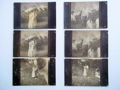 Six Postcards. Photograph Negative Style Postcards. Set of 6 Unused Postcards. Romantic Couple. Unique Art Supply. Interesting Wall Display. by ThrowItForward on Etsy