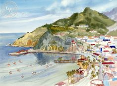 Catalina Island – California Watercolor
