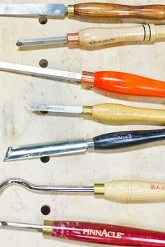 Turning Tool Basics Class: Fundamentals of turning tool use and sharpening with Dennis Merrifield at Woodcraft, Colorado Springs