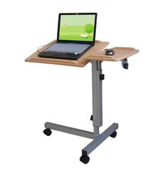 Modern Laptop Table id# 4555 - stick figure working laptop desk - powerpoint animation