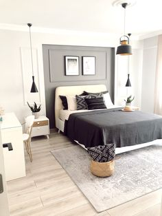 Master Bedroom Interior, Living Room Interior, Modern Bedroom, Home Interior Design, Living Room Decor, Decoration Bedroom, Home Decor Bedroom, Design Ikea, Guest Bedrooms