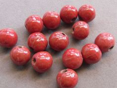 18 Red 14 Mm Porcelain Beads G 166 AE 13 for sale online 18th, Porcelain, Beads, Beading, Porcelain Ceramics, Bead, Pearls, Seed Beads, Beaded Necklace