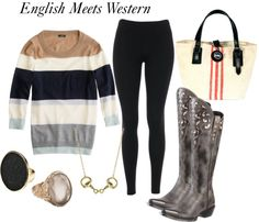 """Cozy Sweater Style"" by horsesandheels on Polyvore"