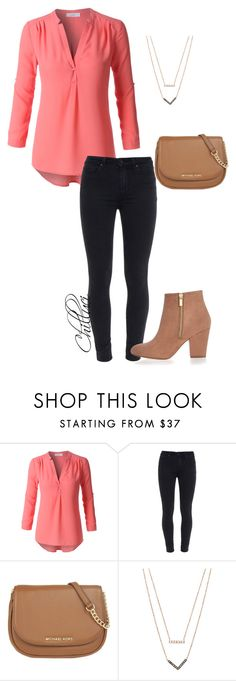 """""""Pink"""" by chilluci on Polyvore featuring LE3NO, Paige Denim, MICHAEL Michael Kors, Michael Kors, River Island, women's clothing, women's fashion, women, female and woman"""