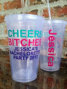 Personalized Bachelorette Party Tumbler 16 ounce  by VinylGifts @Courtney Freeman so cute