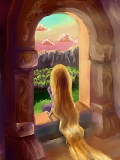 Rapunzel from Tangled Film Disney, Disney Nerd, Best Disney Movies, Arte Disney, Disney Fan Art, Disney Magic, Punk Disney, Rapunzel Y Eugene, Disney Rapunzel