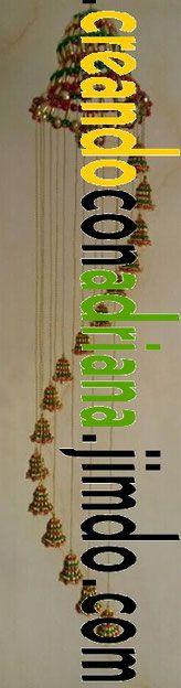NAVIDAD - CREANDOCONADRIANA Beads, Tableware, Log Projects, Beading, Necklaces, Light Installation, Napkin Holders, Holiday Wreaths, Lanterns