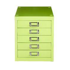 Spencer 5 Drawer Cabinet Green