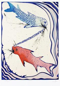Peixes-  Ilustração de Salvador Dali  www.esoterissima.com.br