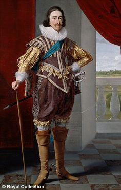 Daniel Mytens, Portrait of H. King Charles I, Courtesy Royal Collection Trust C) Her Majesty Queen Elizabeth II 2013 16th Century Fashion, 17th Century, Historical Costume, Historical Clothing, The Queen's Gallery, Elizabethan Era, Royal Collection Trust, Renaissance Era, Doublet