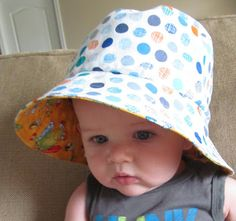 Simply Silver...: Free Pattern for a Reversible Bucket Hat