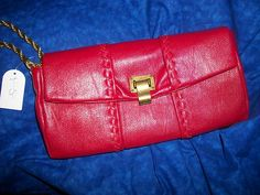 Jessica Simpson Solid Red Maggie Clutch Handbag