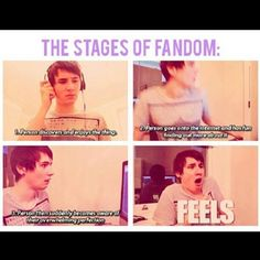 Fandoms. Seriously though. Subscribe to this guy on YouTube, his channel is danisnotonfire. :)