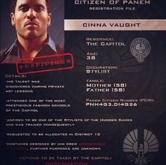 Citizen of Panem Registration File : Cinna Vaught