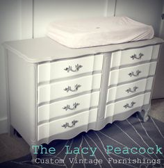 Gray with white drawers