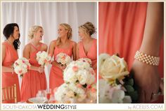 coral, pink, blush, gold and white wedding details; All hair and makeup by Angelique for SD Wedding Style Magazine