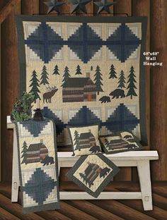 Cabin in the Woods Quilts | Choices Quilts offers Cabin in the Woods Quilts handmade for you! You can shop online or call us toll-free @ 1-800-572-2070 or 770-641-9700.
