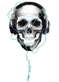 Music skull love love love