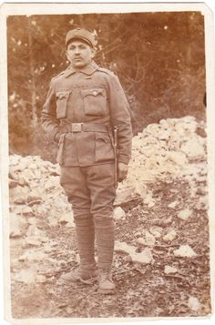 Czech infantryman Wenzel Burcal at the Isonzo front WWI (K. My Ancestors, Albania, Wwi, Winter Jackets, Winter Vest Outfits