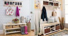 Un banco en el recibidor Sweet Home, Entryway, The Originals, Storage, Furniture, Home Decor, Ideas, Google, Remodeling