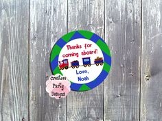Train Themed Favor Tags or Labels - $7.50 COUPON CODE: PIN30 for 30% off all favor tags and labels. CLICK TO SAVE TODAY!