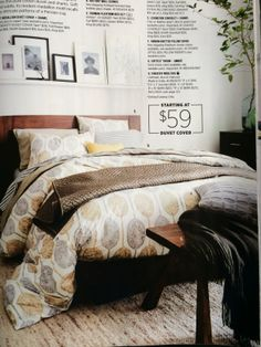 Love the color combo and pattern in the duvet!