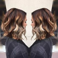 Curly Cinnamon and Beige Blonde Bob Haircut