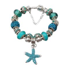 """By the Sea"" Crystal Charm Bracelet"