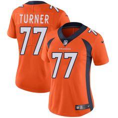 Women's Nike Denver Broncos #77 Billy Turner Orange Team Color Vapor Untouchable Limited Player NFL Jersey