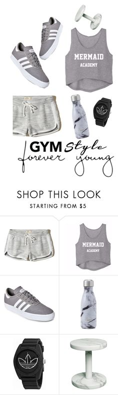 """""""Hard Work Pays."""" by emi-the-queen ❤ liked on Polyvore featuring Hollister Co., adidas, Swell and gymessentials"""