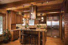kitchen log cabin style