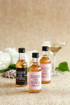 10 DIY cork bottle wedding favors. Prohibition whiskey Label. 1920s ...