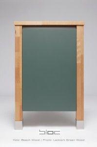 Colour your kitchen | Massivholz | Küche | Korpus | Beech Wood - Lackiert Green Wood