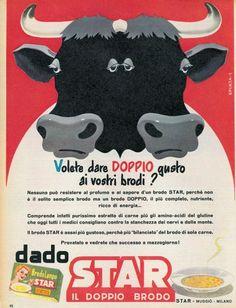 La pubblicità del dado Star in un'immagine degli anni '50  Di Spinta