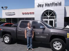 WHITNEY's new 2010 CHEVROLET SILVERADO! Congratulations and best wishes from Jay Hatfield CDJR and ADAM SMITH.