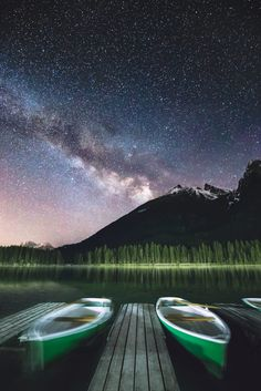 Night harbor by Tomas Havel......  #sky #landscape #lake #forest #sea #mountains #water #boat #reflection #nature #travel #night #light #tree #summer #stars #snow #dark #star #trip #milkyway #astro #adventure #hike #astrophotography
