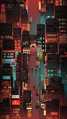 Pixel Gif, Arte 8 Bits, Pixel Art Background, Bd Art, Cyberpunk City, Cyberpunk Aesthetic, Pixel Art Games, City Art, Vaporwave