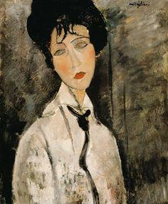 Mujer con #corbata . Amadeo Modigliani. Woman with #tie
