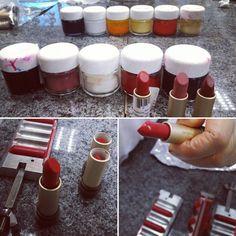 Processo de testes para produção de um batom cor textura na Fábrica da #Natura. #UsoNatura