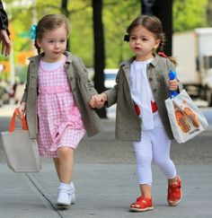 Sarah Jessica Parker's twin girls, so adorable!  Love the fashion.