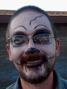 """""""Went to a little family reunion yesterday. One of my cousins was doing face painting, this is the result :-)"""""""