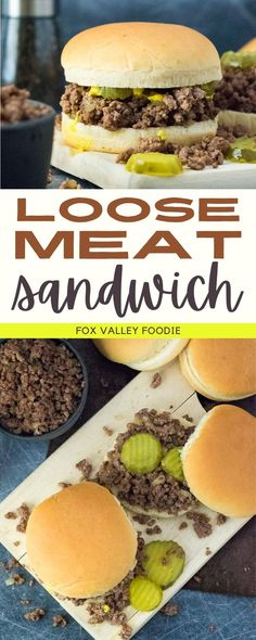 You don't have to be from Iowa to enjoy this classic Loose Meat Sandwich! Flavorful seasoned beef is piled high on a bun creating a quick and easy meal your whole family will love. This simple recipe is similar in style to a Sloppy Joes, but a bit less saucy. These sandwiches are perfect for a no-fuss meal or feeding a crowd. Bbq Pork Sandwiches, Loose Meat Sandwiches, Easy Sandwich Recipes, Appetizer Recipes, Appetizers, Best Beef Recipes, Quick Recipes, Favorite Recipes, Delicious Dinner Recipes