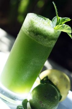 frozen mint lemonade