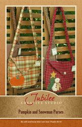 Holiday Bag Ragged Homespun Pattern- PRINTED