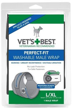 Vet's Best 1 Count Perfect Fit Washable Male Dog Wrap, Large/X-Large -- You can get additional details at the image link. (This is an affiliate link) #LitterandHousebreaking