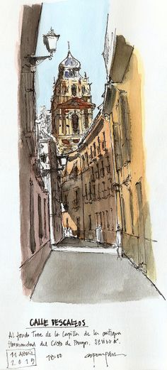 Calle Descalzos   #urban #sketch #watercolor