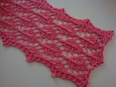 easy leaves scarf knit pattern 1